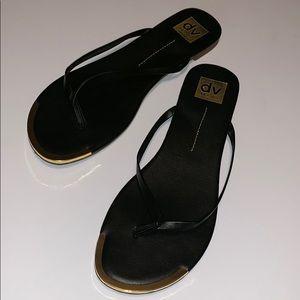 DV by Dolce Vita Black Thong Sandals